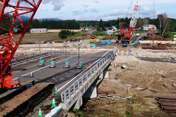 十勝大雨による災害復旧工事